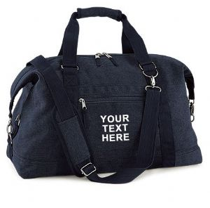 Personalised Vintage Canvas Weekend Holdall Bag BG650